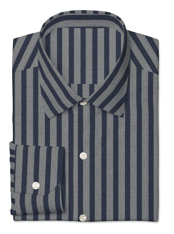 Blue / Grey Melange Stripe