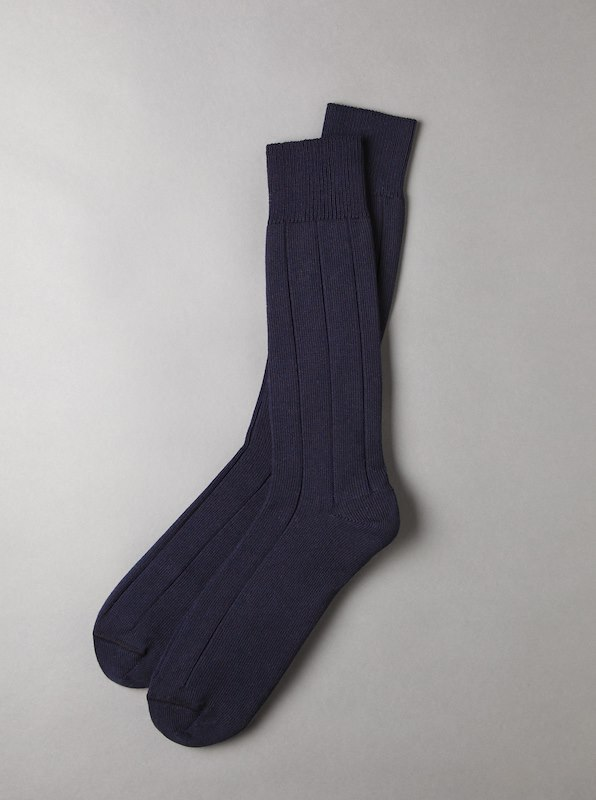 Needle Out Sport Cotton Mid Calf Socks - Navy