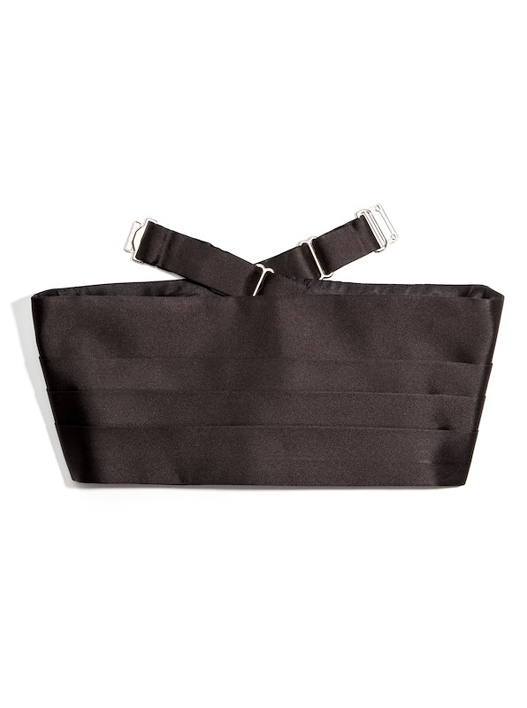 Cummerbund - Black Satin