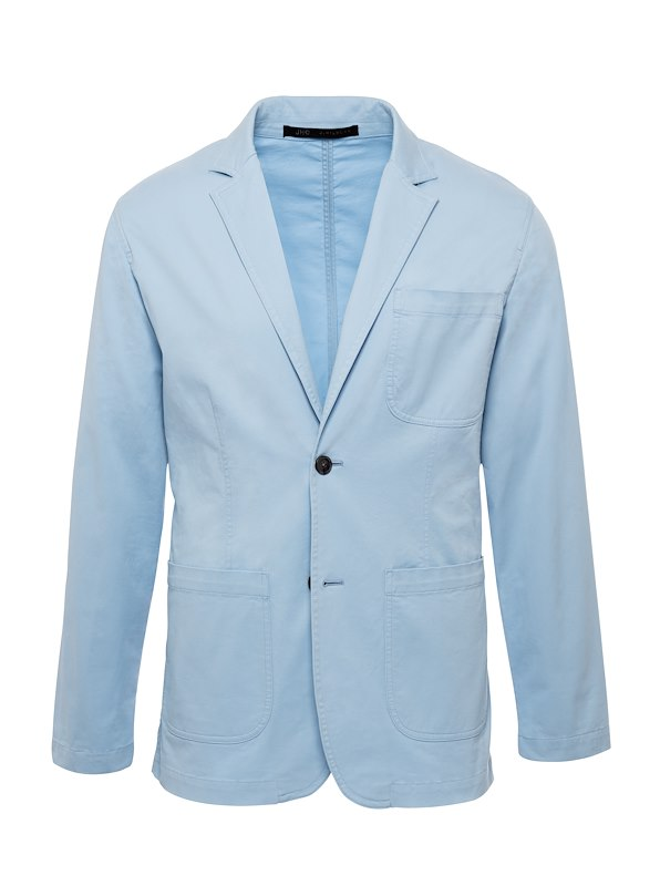 Sky Blue Americano Casual Cotton Blazer