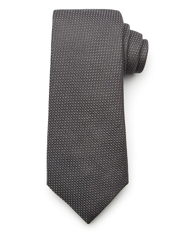 Two-Color Texture Tie - Grey