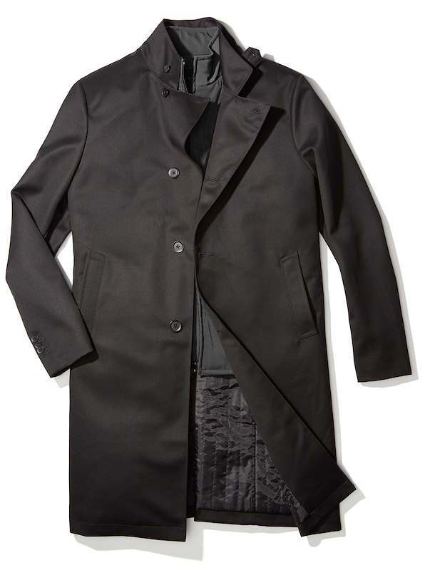 Vested Overcoat - Black