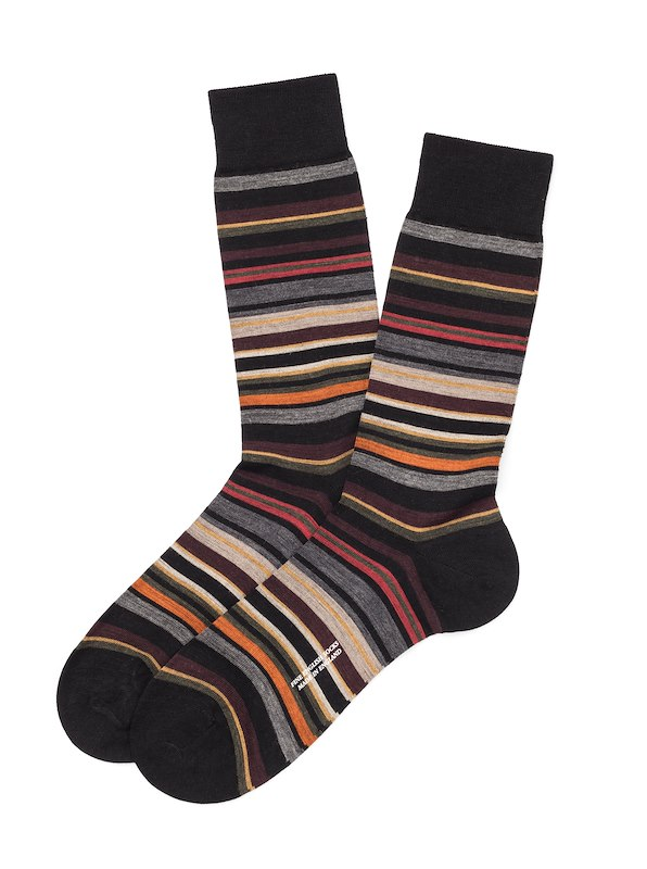 Pantherella Multi Stripe - Black