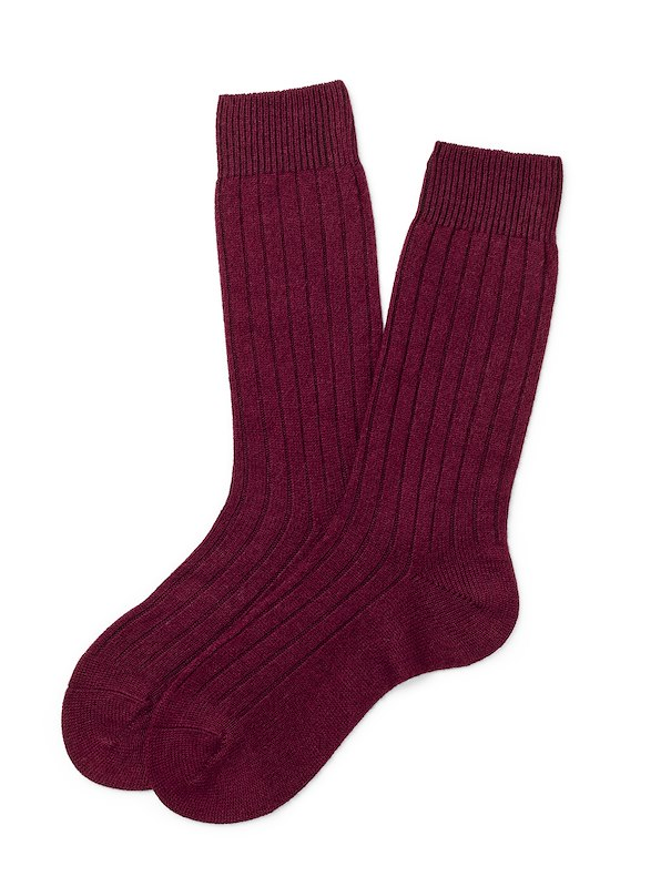 Pantherella Cashmere Solid - Port