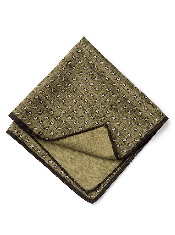 Double-Faced Dotted Paisley - Olive