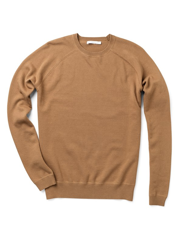 Brushed Cotton Crewneck - Mocha