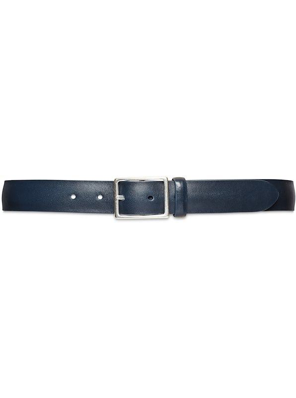 30mm Custom Napa Leather Belt - Navy