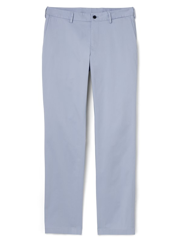 Pale Blue Brushed Cotton Chino