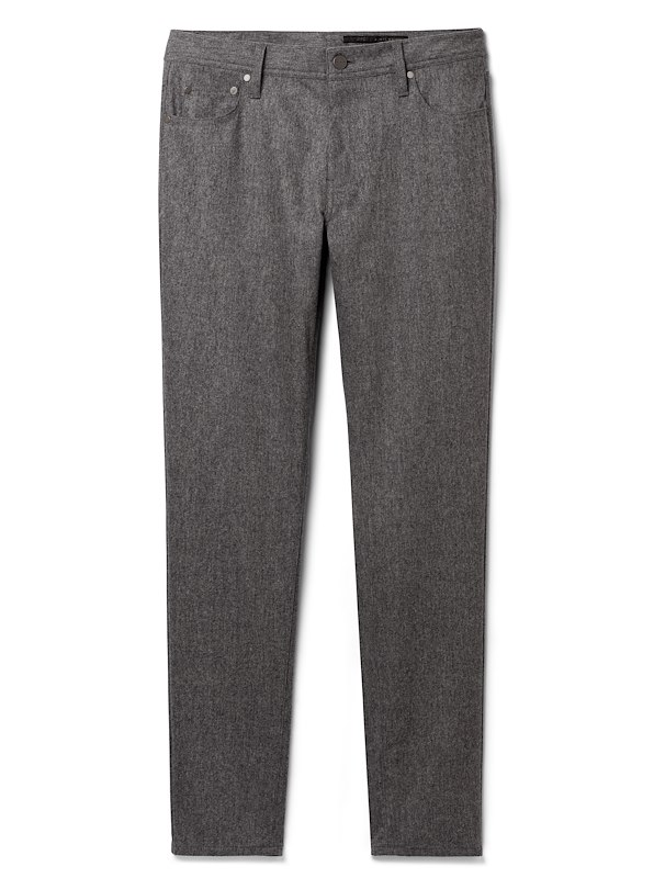 Soft Grey Cashmere Blend Flannel 5-Pocket
