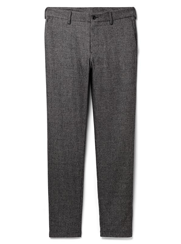 Salt and Pepper Tweed Cashmere Blend Flannel Chino