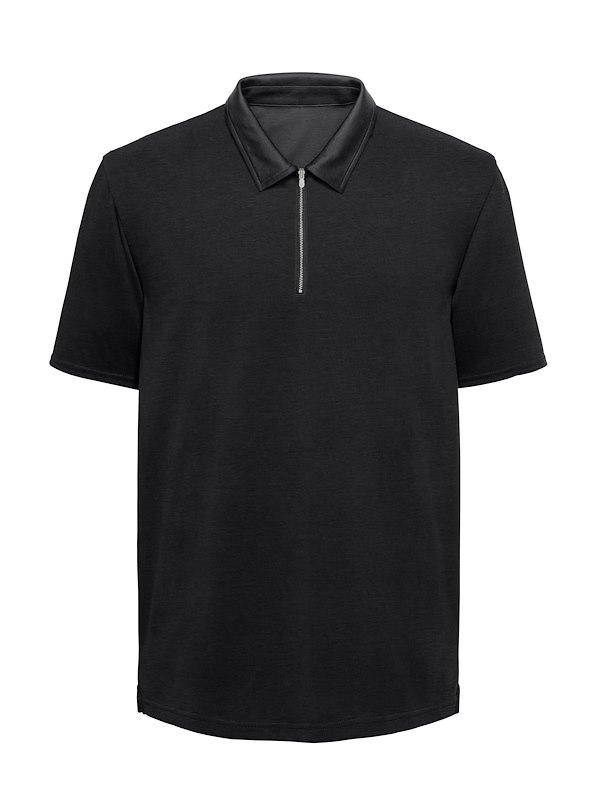 Black Interlock Jersey