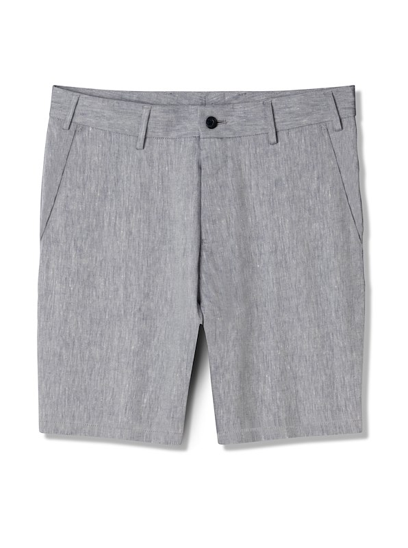 Ocean Blue Cotton Linen Shorts