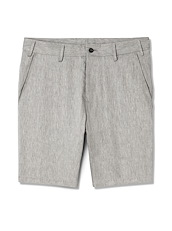 Pewter Cotton Linen Shorts