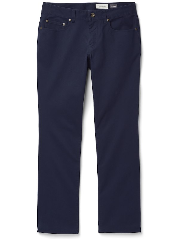 Brushed Twill 5-Pocket - Classic Fit - Navy