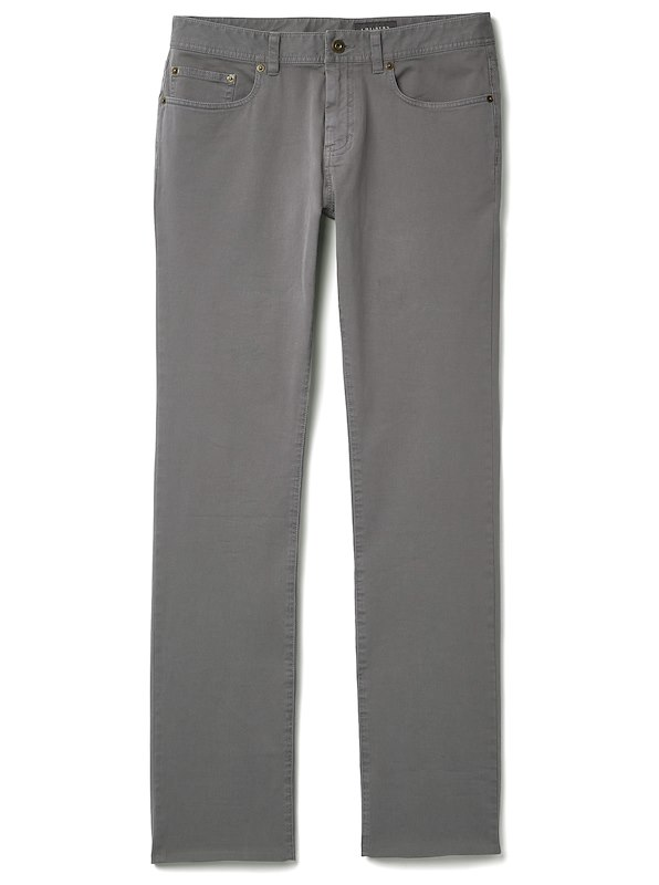 Brushed Twill 5-Pocket - Straight Fit - Grey