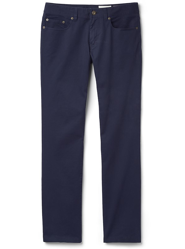 Brushed Twill 5-Pocket - Straight Fit - Navy