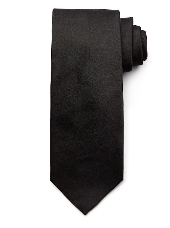 Satin Solid Tie - Black