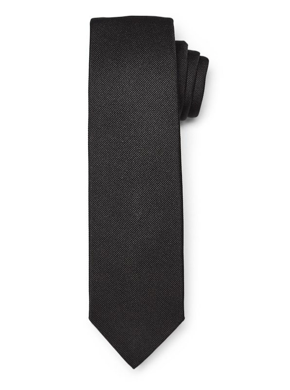 Modern Twill Solid Tie - Black