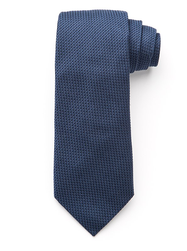 Two-Color Texture Tie - Navy