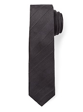 Modern Textured Satin Stripe - Black