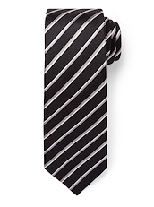 Herringbone Stripe - Black/Grey
