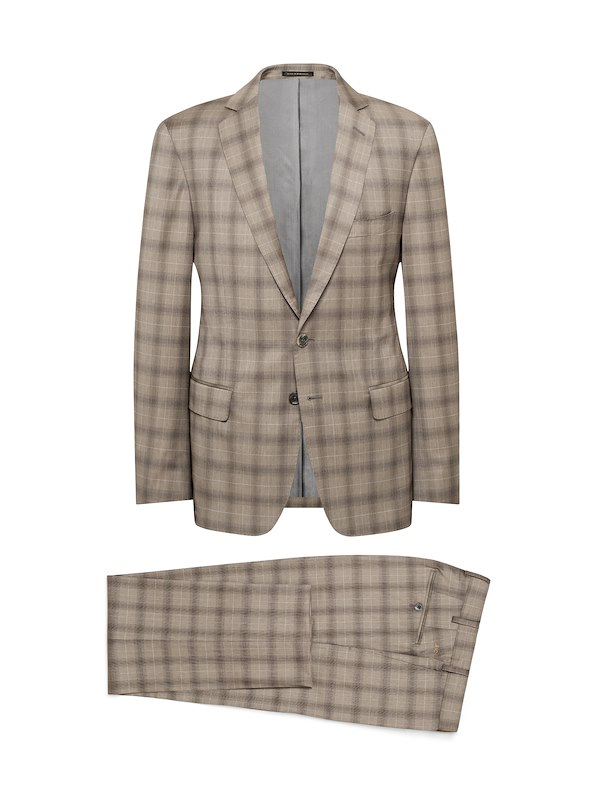 Taupe Estrato Glen Plaid