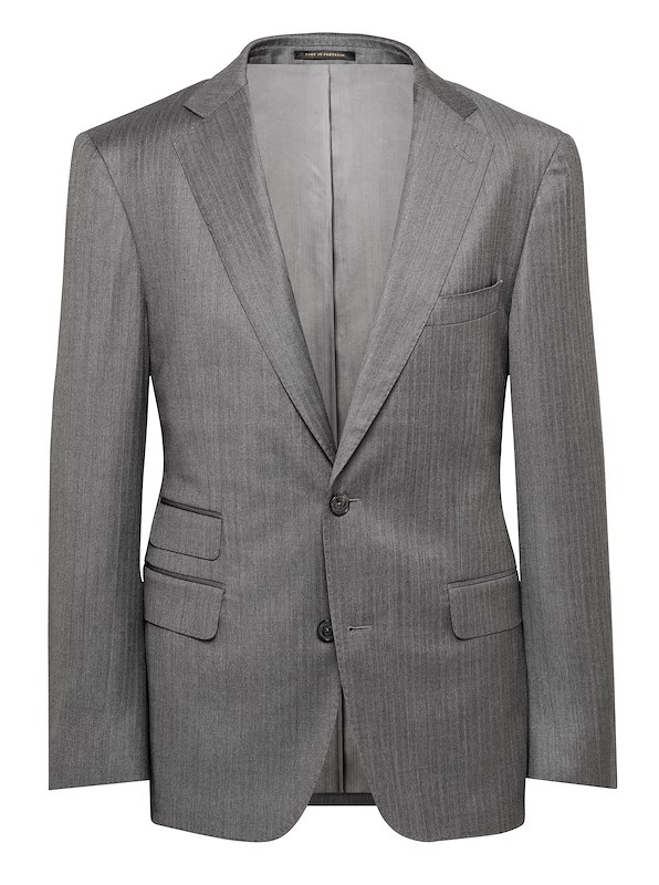 Grey Herringbone Solid
