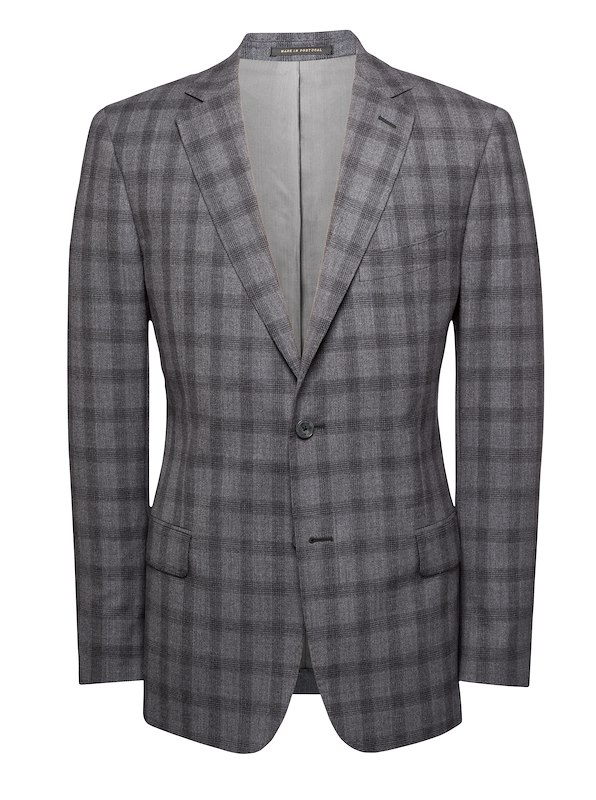 Heather Grey Estrato Plaid