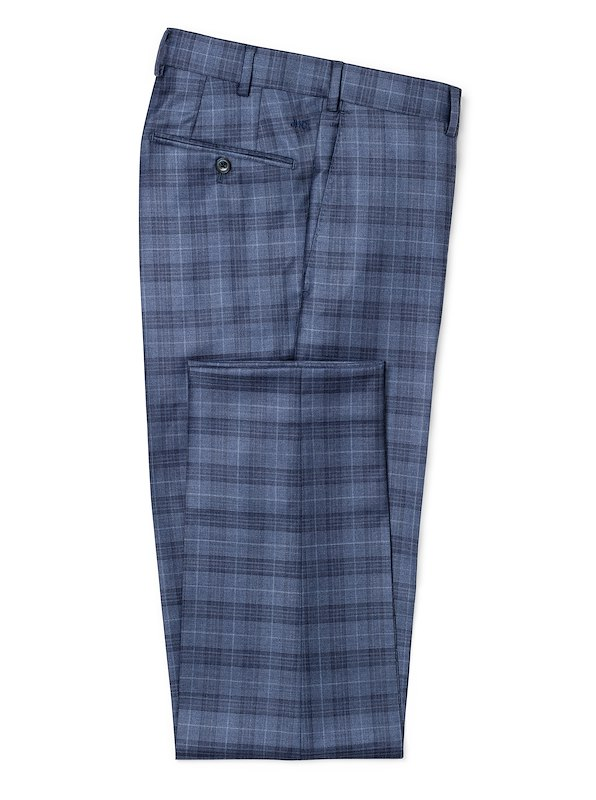 Storm Blue Plaid with Deco