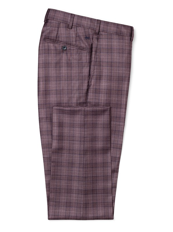 Burgundy/Blue Glen Plaid
