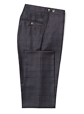 Navy/Brown Multi Gingham