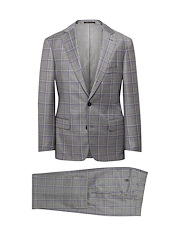 Grey/ Lavender Plaid