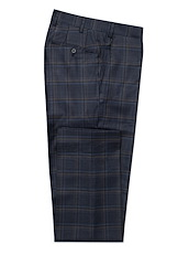 Navy/Brown Plaid