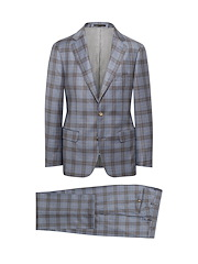 Blue/Brown Gingham Check