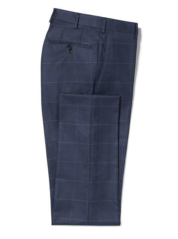 Navy Glen Plaid w/ Blue Deco