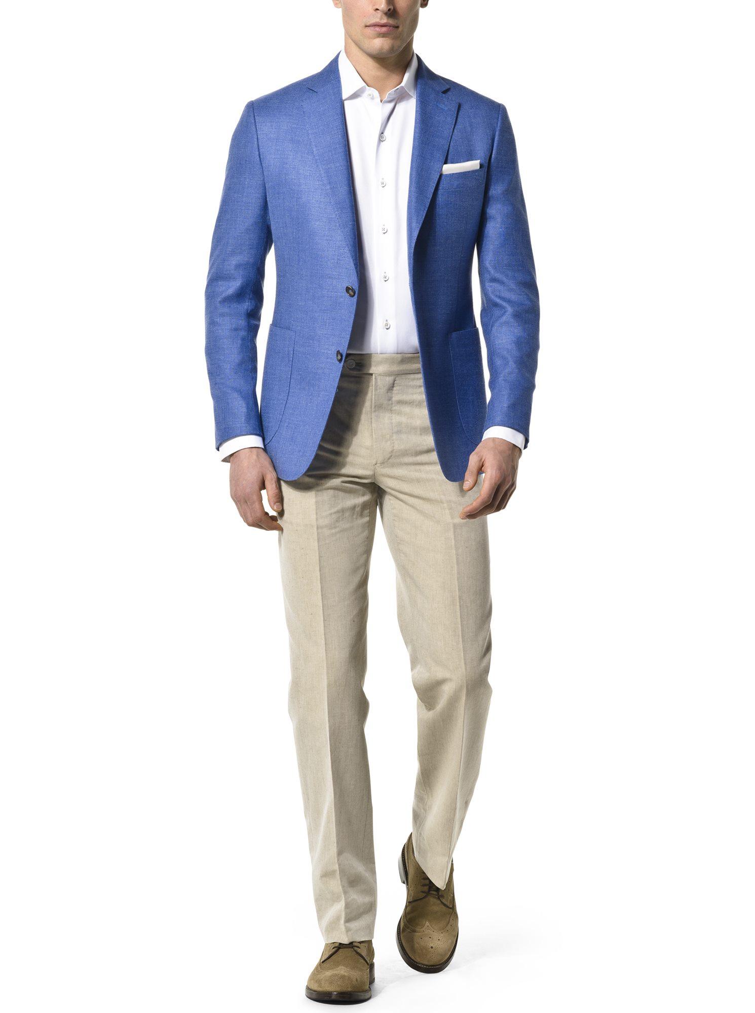 4121d813ab3 Royal Blue Wool Silk Linen Blend.  550 Add To Favorites