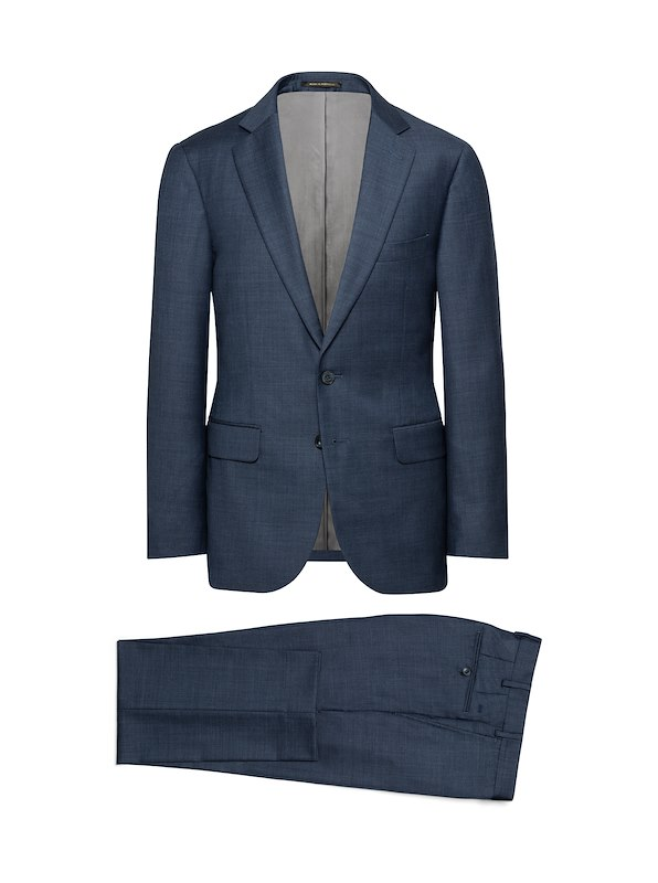 Storm Blue Wool/Cashmere Solid