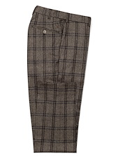 Taupe/Charcoal Flannel Plaid
