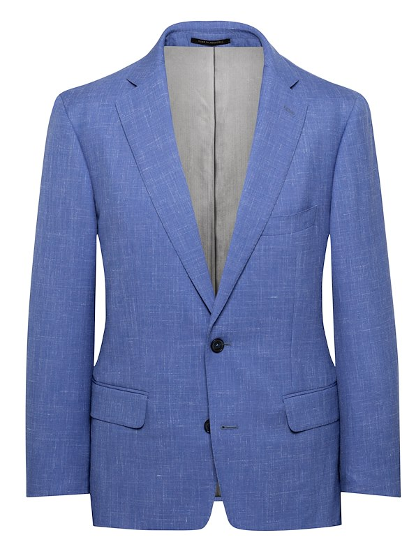 Blue Wool/Linen Solid