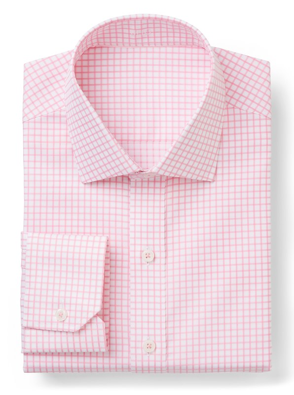 White / Pink Twill Check