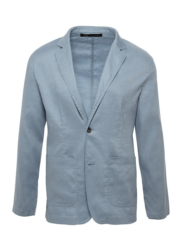 Lagoon Blue Cotton Linen Casual Cotton Blazer
