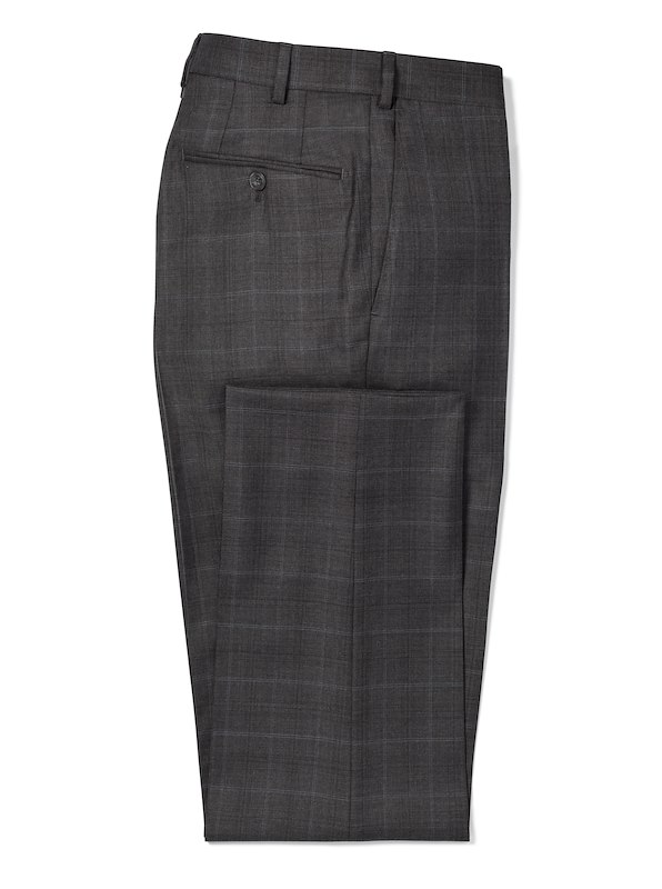 Charcoal Plaid w/ Blue Deco