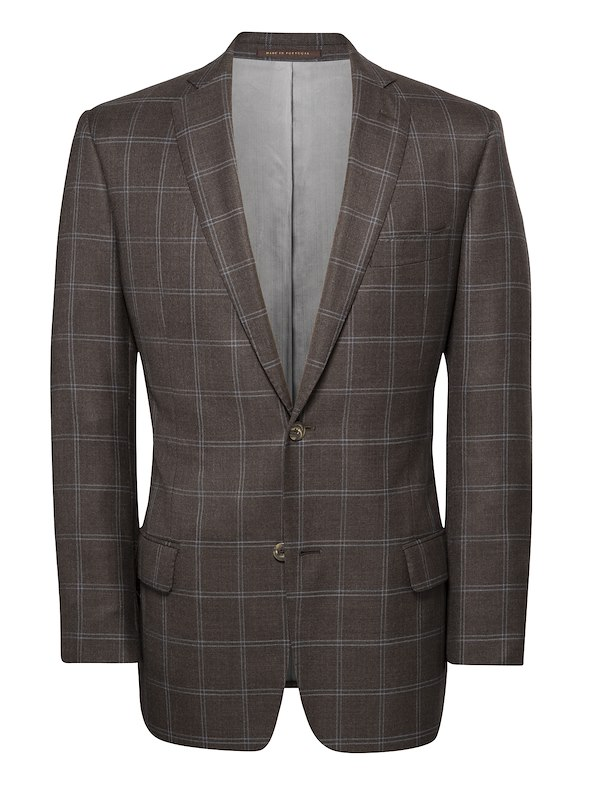 Brown w/ Light Blue Windowpane