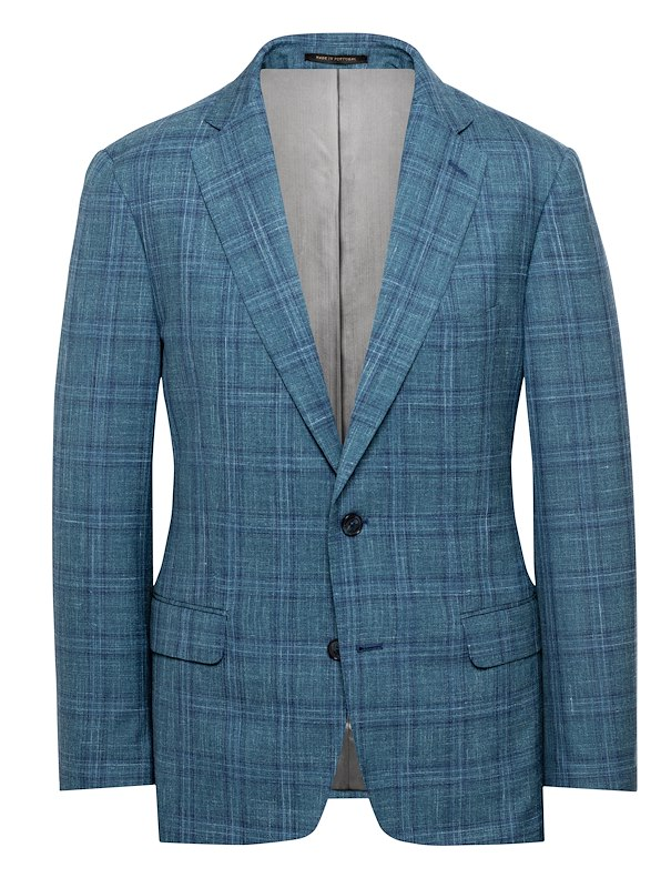 Green/Blue Wool/Silk/Flax Check