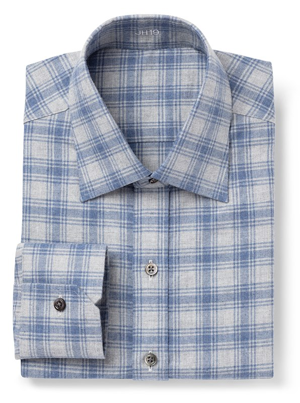 Blue and Grey Plaid Flannel