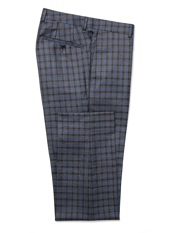 Blue Charcoal Plaid