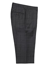 Charcoal Black Windowpane