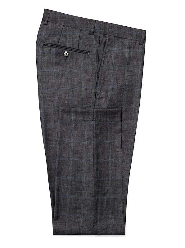 Charcoal with Blue Windowpane