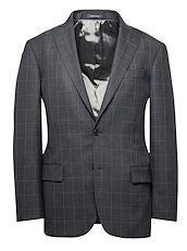 Charcoal and Stone Windowpane