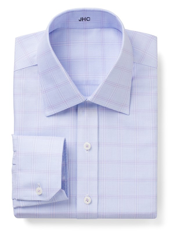 Non-Iron Blue/Lavender Windowpane Check